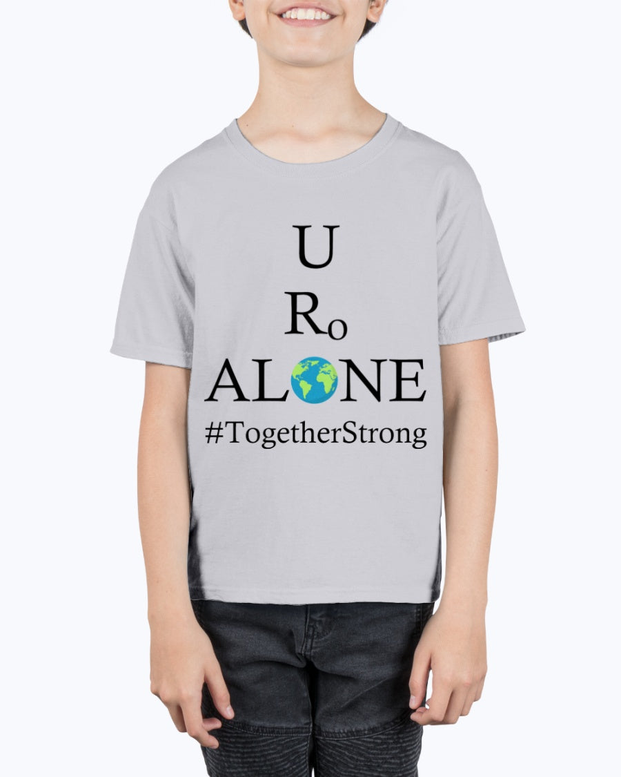 Global Design #TogetherStrong on Hanes Youth Beefy-T