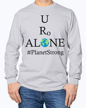 Load image into Gallery viewer, Global Design #PlanetStrong on Gildan Long Sleeve T-Shirt
