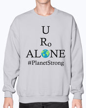 Load image into Gallery viewer, Global Design #PlanetStrong on Gildan Sweatshirt - Crew