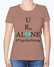 Load image into Gallery viewer, Global Design #TogetherStrong on Fruit of the Loom Ladies Heavy Cotton T-Shirt