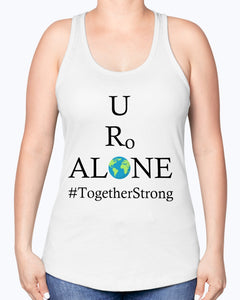 Global Design #TogetherStrong on Next Level Ladies Racerback Tank