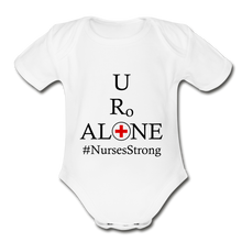 Load image into Gallery viewer, Nurses Design on Organic Short Sleeve Baby Bodysuit - white