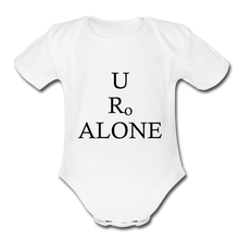 Load image into Gallery viewer, Classic Design on Organic Short Sleeve Baby Bodysuit - white