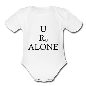Classic Design on Organic Short Sleeve Baby Bodysuit - white