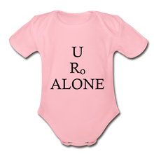 Load image into Gallery viewer, Classic Design on Organic Short Sleeve Baby Bodysuit - light pink
