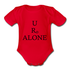 Load image into Gallery viewer, Classic Design on Organic Short Sleeve Baby Bodysuit - red