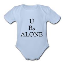 Load image into Gallery viewer, Classic Design on Organic Short Sleeve Baby Bodysuit - sky