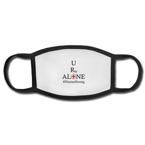 Nurses Design on Black Border Face Mask - white/black