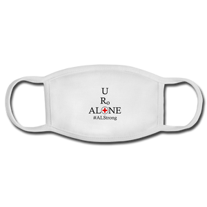 Medical and State Design #ALStrong on White Face Mask - white/white