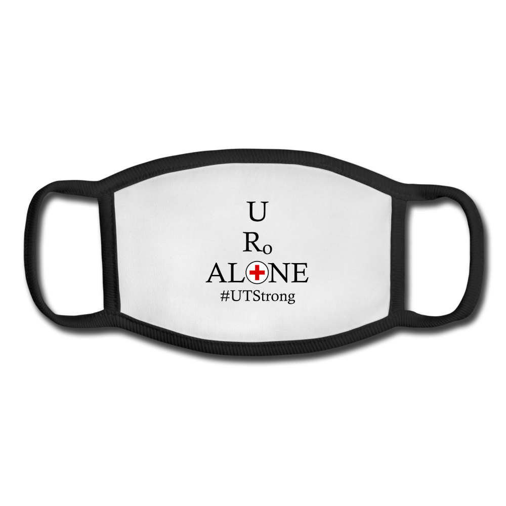 Medical and State Design #UTStrong on Black Border  Face Mask - white/black