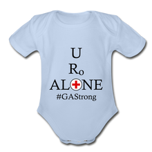 Load image into Gallery viewer, Medical and State Design #GAStrong on Organic Short Sleeve Baby Bodysuit - sky