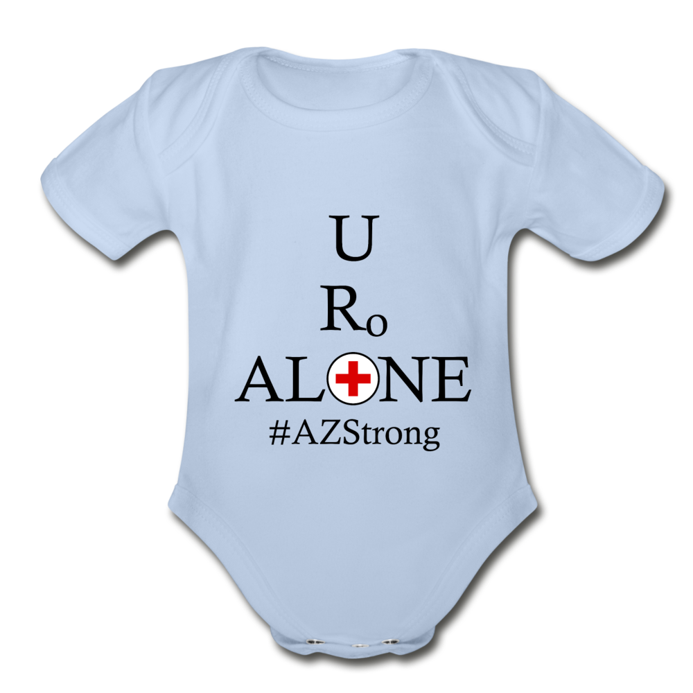 Medical and State Design #AZStrong on Organic Short Sleeve Baby Bodysuit - sky