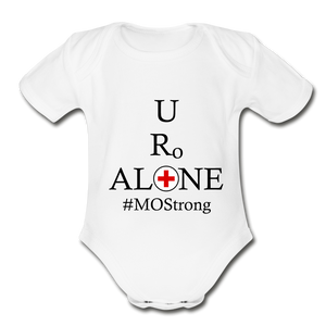 Medical and State Design #MOStrong on Organic Short Sleeve Baby Bodysuit - white