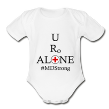 Load image into Gallery viewer, Medical and State Design #MDStrong on Organic Short Sleeve Baby Bodysuit - white