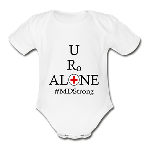 Medical and State Design #MDStrong on Organic Short Sleeve Baby Bodysuit - white