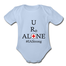 Load image into Gallery viewer, Medical and State Design #IAStrong on Organic Short Sleeve Baby Bodysuit - sky