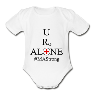 Medical and State Design #MAStrong on Organic Short Sleeve Baby Bodysuit - white