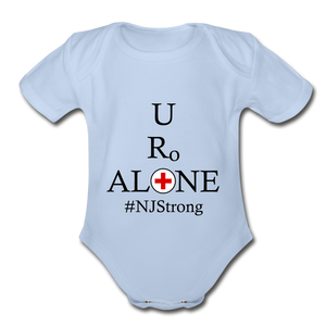Medical and State Design #NJStrong on Organic Short Sleeve Baby Bodysuit - sky