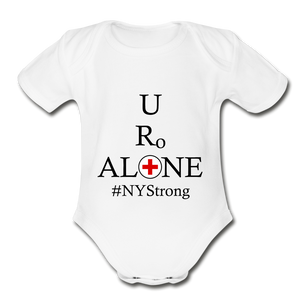 Medical and State Design #NYStrong on Organic Short Sleeve Baby Bodysuit - white