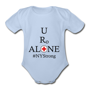 Medical and State Design #NYStrong on Organic Short Sleeve Baby Bodysuit - sky