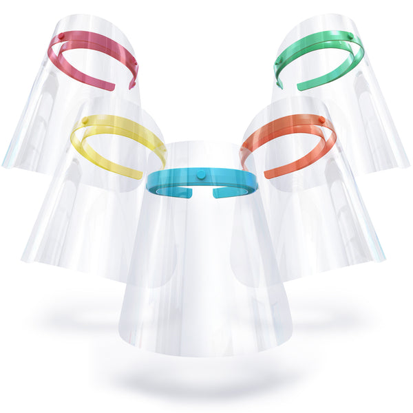 SUMMER SORBET, Set of 5 Shields: berry blue, sweetly strawberry, lightly lemon, misty mint and tangy tangerine