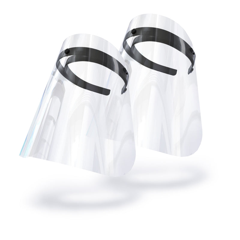 Face Shield - Twin Pack Bold Black