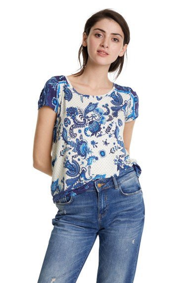Desigual Melian Short Sleeve Top