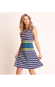 Hatley Sarah Dress - Navy Stripes