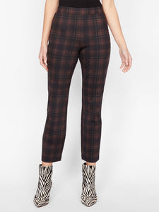 Carnaby Kick Crop Redwood Plaid Pant