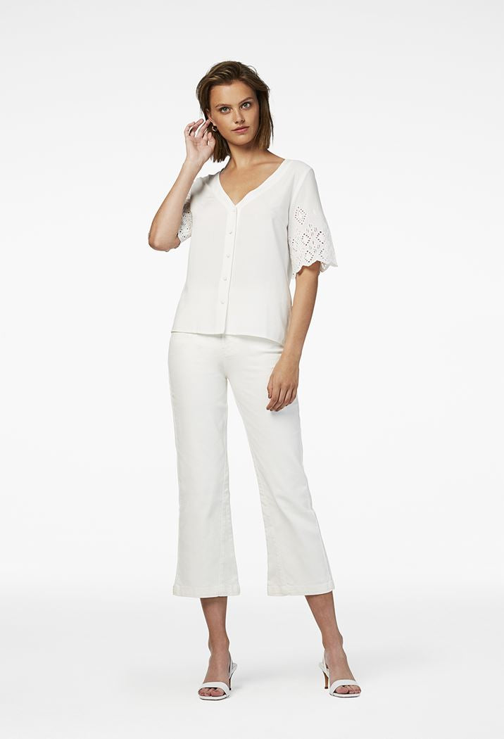 Simple the Brand Eyelet Blouse
