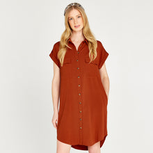 Load image into Gallery viewer, Apricot Sleeveless Utility Dress