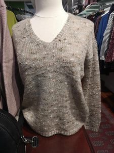 V Neck Sprinkle Knit Sweater