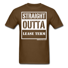 Load image into Gallery viewer, Straight Outta Lease Term Tee - brown