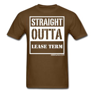 Straight Outta Lease Term Tee - brown