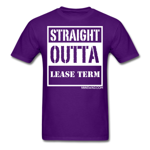 Straight Outta Lease Term Tee - purple