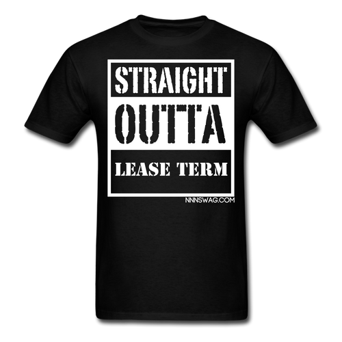 Straight Outta Lease Term Tee - black