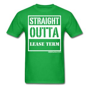 Straight Outta Lease Term Tee - bright green