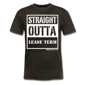 Straight Outta Lease Term Tee - mineral black