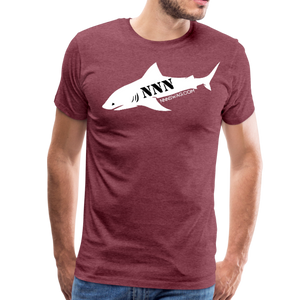 NNN Shark Tee - heather burgundy