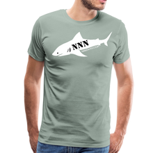 Load image into Gallery viewer, NNN Shark Tee - steel green