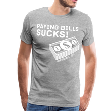 Load image into Gallery viewer, Paying Bills Sucks Tee - heather gray