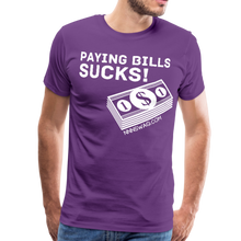 Load image into Gallery viewer, Paying Bills Sucks Tee - purple