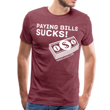 Load image into Gallery viewer, Paying Bills Sucks Tee - heather burgundy