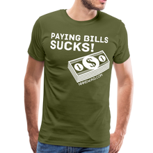 Load image into Gallery viewer, Paying Bills Sucks Tee - olive green