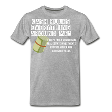 Load image into Gallery viewer, Cash Rules Everything* Tee - heather gray