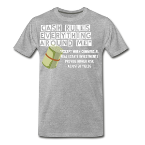 Cash Rules Everything* Tee - heather gray