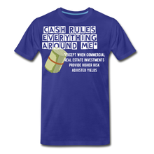 Load image into Gallery viewer, Cash Rules Everything* Tee - royal blue