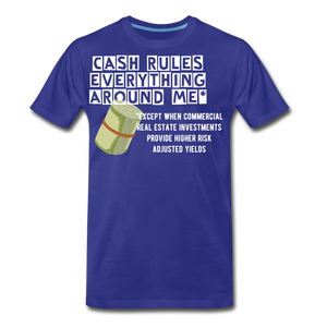 Cash Rules Everything* Tee - royal blue