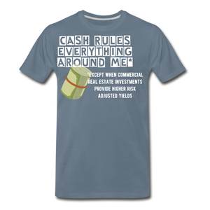 Cash Rules Everything* Tee - steel blue