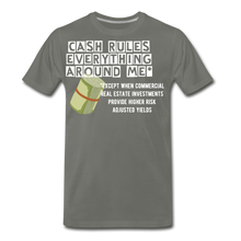 Load image into Gallery viewer, Cash Rules Everything* Tee - asphalt gray